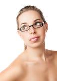 Φυσικό κορίτσι ομορφιάς makeup στοκ εικόνες