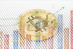 Φυσικό νόμισμα cryptocurrency νομισμάτων Bitcoin χρυσό στοκ εικόνες