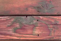 Φυσικό ξύλινο υπόβαθρο με τις ρωγμές Οριζόντιος πίνακας πάτωμα παλαιό στοκ φωτογραφία