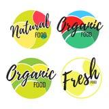 Φυσικό λογότυπο τροφίμων Στοκ Εικόνες