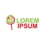Φυσικό λογότυπο lollipop Στοκ εικόνα με δικαίωμα ελεύθερης χρήσης