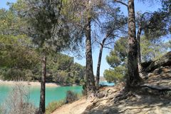 Φυσικό πάρκο ardales-EL CHORRO Στοκ φωτογραφία με δικαίωμα ελεύθερης χρήσης