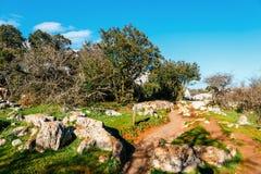 Φυσικό πάρκο EL Torcal de Antequera, Ανδαλουσία, Ισπανία Στοκ εικόνα με δικαίωμα ελεύθερης χρήσης