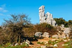 Φυσικό πάρκο EL Torcal de Antequera, Ανδαλουσία, Ισπανία Στοκ φωτογραφία με δικαίωμα ελεύθερης χρήσης