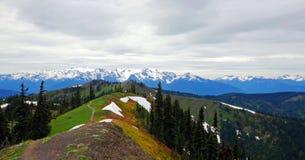 Φυσικό πολιτεία της Washington φύσης - κορυφογραμμή Klahhane, ολυμπιακό εθνικό πάρκο στοκ εικόνα