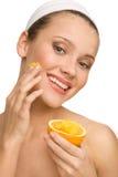 Φυσικό πορτοκάλι scrab Στοκ εικόνα με δικαίωμα ελεύθερης χρήσης