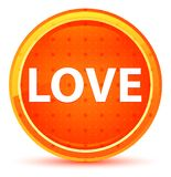 Φυσικό πορτοκαλί στρογγυλό κουμπί αγάπης ελεύθερη απεικόνιση δικαιώματος