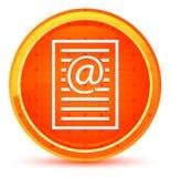 Φυσικό πορτοκαλί στρογγυλό κουμπί εικονιδίων σελίδων διευθύνσεων ηλεκτρονικού ταχυδρομείου απεικόνιση αποθεμάτων