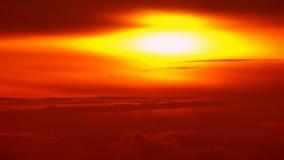 Φυσικό πορτοκαλί ηλιοβασίλεμα πυράκτωσης φιλμ μικρού μήκους