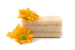 φυσικό σαπούνι λουλουδιών στοκ εικόνες