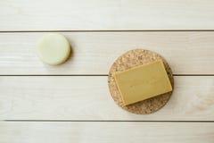 φυσικό σαπούνι ράβδων Στοκ Εικόνα