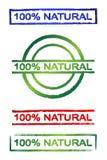 φυσικό σημάδι 100% Στοκ εικόνες με δικαίωμα ελεύθερης χρήσης