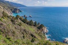 Φυσικό τοπίο ακτών Καλιφόρνιας Στοκ Εικόνες