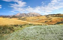 Φυσικό τοπίο κοντά στη Μάλαγα, Ανδαλουσία, Ισπανία στοκ εικόνα με δικαίωμα ελεύθερης χρήσης