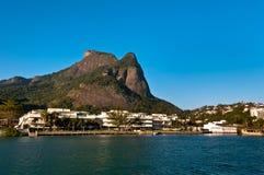 Φυσικό τοπίο Ρίο ντε Τζανέιρο Στοκ Φωτογραφία