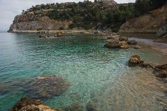 Φυσικό τοπίο στην παραλία του Anthony Quinn, Rodos Στοκ εικόνα με δικαίωμα ελεύθερης χρήσης