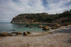 Φυσικό τοπίο στην παραλία του Anthony Quinn, Rodos Στοκ εικόνες με δικαίωμα ελεύθερης χρήσης