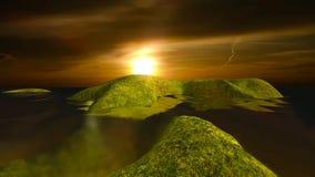 φυσικό τοπίο 13 του ηλιοβασιλέματος και της θάλασσας απεικόνιση αποθεμάτων