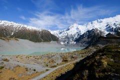 Φυσικό τοπίο του υποστηρίγματος Cook, Νέα Ζηλανδία στοκ φωτογραφίες