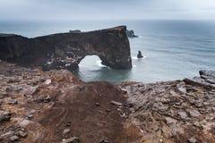 Φυσικό τοπίο Dyrholaey, Ισλανδία Στοκ Εικόνες
