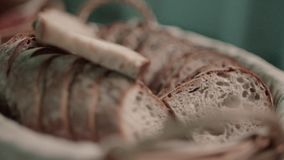 Φυσικό του χωριού ψωμί απόθεμα βίντεο