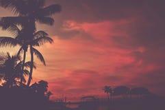 Φυσικό τροπικό ηλιοβασίλεμα παραλιών Στοκ εικόνες με δικαίωμα ελεύθερης χρήσης