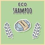 Φυσικό υλικό σαμπουάν eco E r ελεύθερη απεικόνιση δικαιώματος