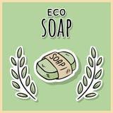 Φυσικό υλικό σαπούνι eco E r απεικόνιση αποθεμάτων