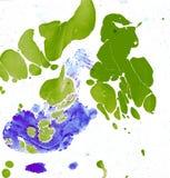 Φυσικό υπόβαθρο από τα σημεία και τους λεκέδες του ελαιοχρώματος Στοκ Εικόνες