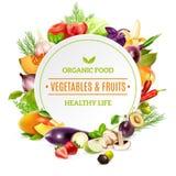 Φυσικό υπόβαθρο οργανικής τροφής διανυσματική απεικόνιση