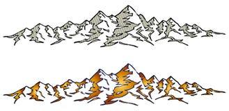 φυσικό φως του ήλιου σειράς βουνών σύνθεσης Στοκ Εικόνες