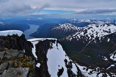 φυσικό φως του ήλιου σειράς βουνών σύνθεσης Στοκ Φωτογραφίες