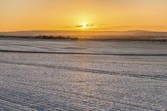 Φυσικό χειμερινό τοπίο σε κακό Frankenhausen Στοκ Εικόνες