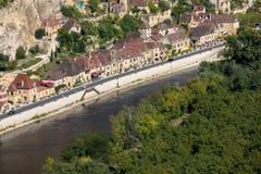 Φυσικό χωριό Λα roque-Gageac στον ποταμό Dordogne, στοκ φωτογραφία με δικαίωμα ελεύθερης χρήσης