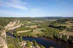 Φυσικό χωριό Λα roque-Gageac στον ποταμό Dordogne, στοκ εικόνες με δικαίωμα ελεύθερης χρήσης