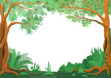 Φυσικό όμορφο πράσινο πλαίσιο Στοκ φωτογραφία με δικαίωμα ελεύθερης χρήσης