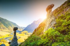 Φυσικό όριο Akkurum στα βουνά Altai, Σιβηρία, Ρωσία στοκ εικόνες με δικαίωμα ελεύθερης χρήσης