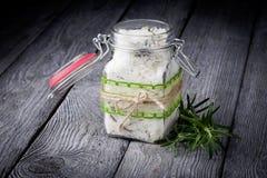 Φυσικό diy άλας λουτρών κρυστάλλου Στοκ εικόνα με δικαίωμα ελεύθερης χρήσης