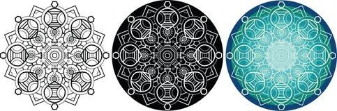 Φυσικό mandala για το χρωματισμό του βιβλίου κύκλος προτύπων Στοκ φωτογραφίες με δικαίωμα ελεύθερης χρήσης