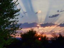 Φυσικό Sunrays της ανατολής του Κολοράντο στοκ φωτογραφία με δικαίωμα ελεύθερης χρήσης