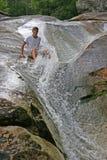 φυσικό waterslide στοκ φωτογραφία με δικαίωμα ελεύθερης χρήσης