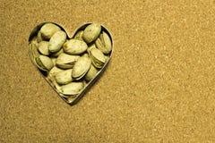Φυστίκια Jalapeño στην καρδιά Στοκ Φωτογραφία