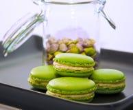 Φυστίκι macarons Στοκ Εικόνα