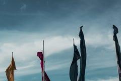 φυσώντας αέρας σημαιών Στοκ Εικόνα