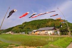 φυσώντας ιαπωνικός αέρας &ka Στοκ Εικόνες