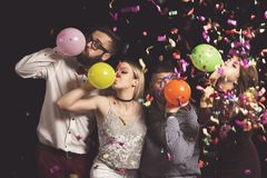 Φυσώντας μπαλόνια Στοκ Εικόνες
