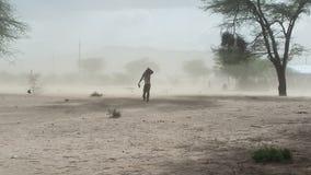 Φυσώντας σκόνη Στοκ Εικόνα