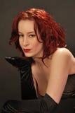 φυσώντας φιλί redhead Στοκ φωτογραφία με δικαίωμα ελεύθερης χρήσης