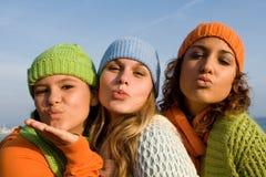 φυσώντας φιλιά Στοκ φωτογραφίες με δικαίωμα ελεύθερης χρήσης