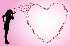 φυσώντας φιλιά ελεύθερη απεικόνιση δικαιώματος